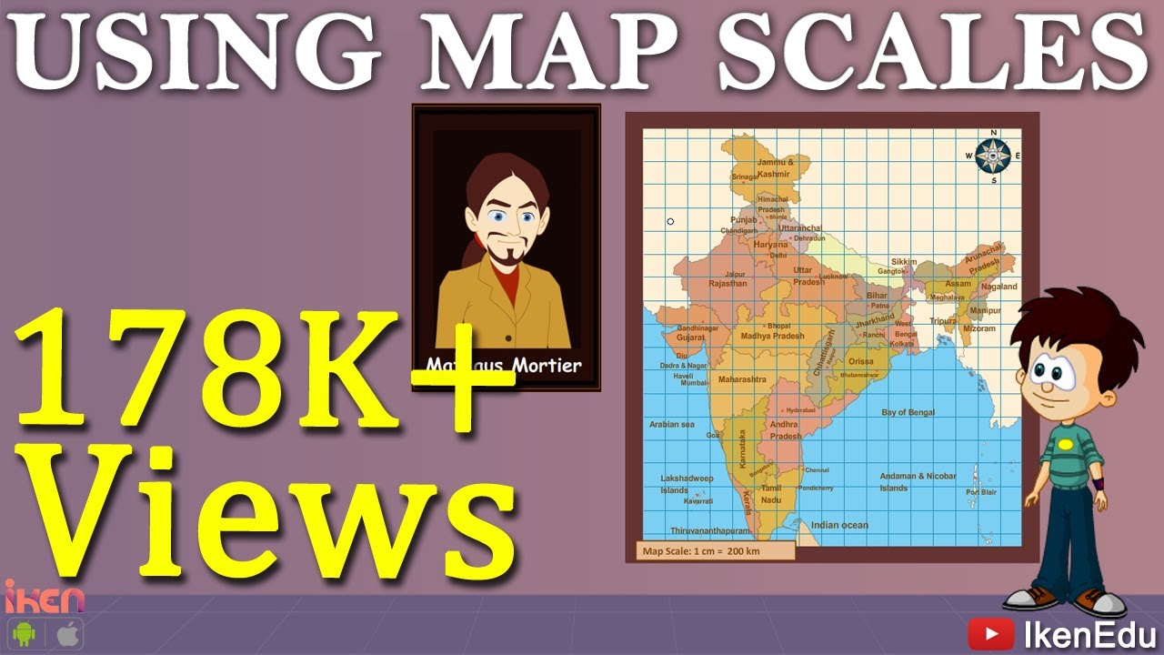 Learn Geography - How to use Map Scale in Maps? on logic mapping, technology mapping, language mapping, industry mapping, identity mapping, africa mapping, ocean mapping, food mapping,