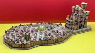 DIY Craft Instruction 3D Puzzle Cubicfun KING'S LANDING Game of Thrones screenshot 5