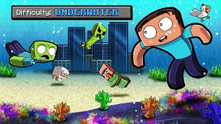 Underwater ONLY Survival in Minecraft! (Flooded WORLD)