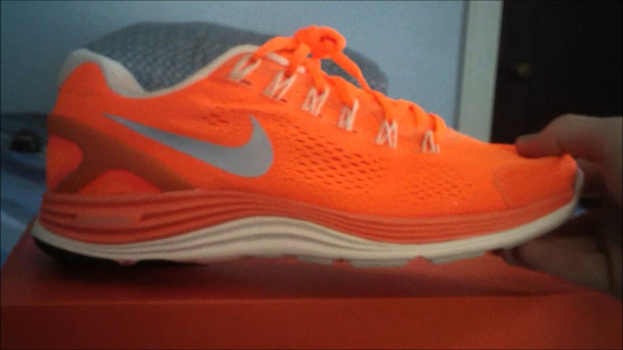 buy popular f5cb9 ff5a7 ... sale nike lunarglide 4 bright orange undoxing review and on feet hd  youtube f2129 0b50e