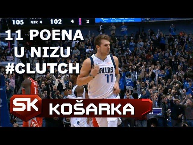 Šou Luke Dončića u Pobedi Dalasa Nad Hjustonom - 11 Poena u Nizu | SPORT KLUB Košarka