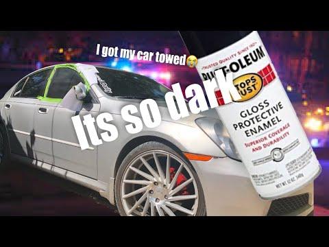 I Spray Painted My Windows Black(cops Towed My Car) Super Dark!!!