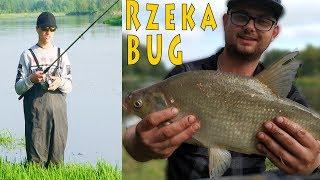 Rzeka Bug - wędkarstwo: pompowanie materaca przez tłumik samochodowy, gruntówki i spinning