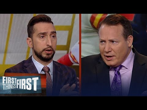 Eric Mangini disagrees with Nick on who will win Mahomes vs Brady matchup | NFL | FIRST THINGS FIRST