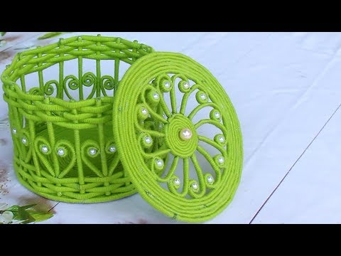 Jewellery box making at home with newspaper and woolen | New Idea 2019