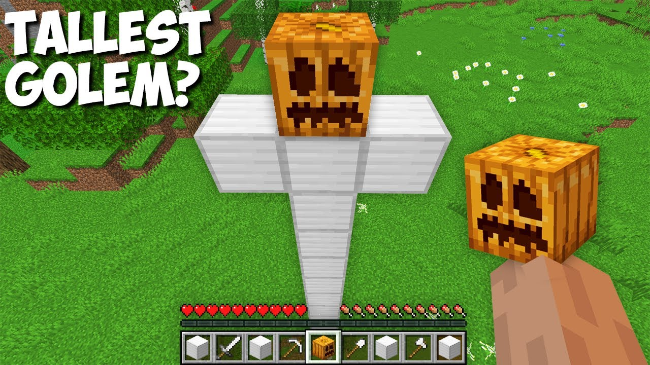 What HAPPENS if you SPAWN the TALLEST GOLEM in Minecraft ? SUPER GOLEM !