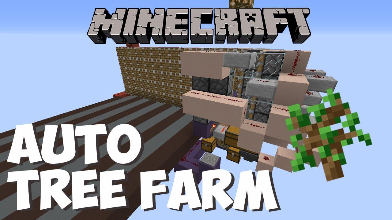 Cheapest Automatic Tree Farm 1 8 1 9 1 10 Minecraft Tutorial Youtube