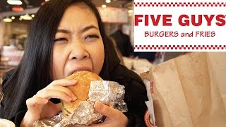 Video Chinese Girl Tries 5 Guys Burgers and Fries download MP3, 3GP, MP4, WEBM, AVI, FLV November 2017