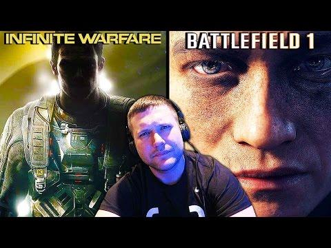 Reacting To INFINITE WARFARE & BATTLEFIELD 1 Trailer Song Swap