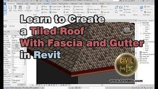كيفية إنشاء سقف القرميد مع اللفافة (الستارة المجلس) والتوثيق باستخدام ريفيت