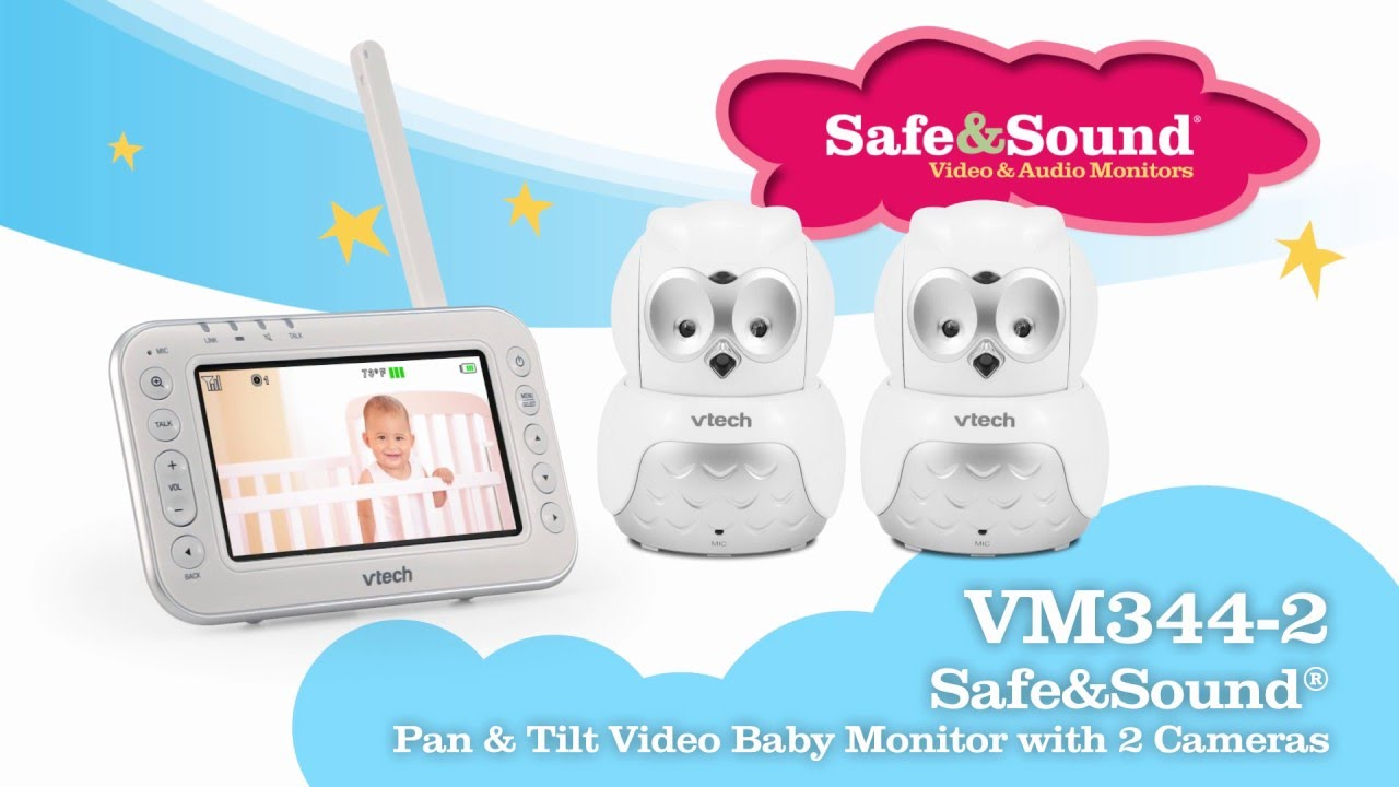 cda53631c00 VM344-2 Video Baby Monitor with Pan, Tilt   Zoom. VTech USA