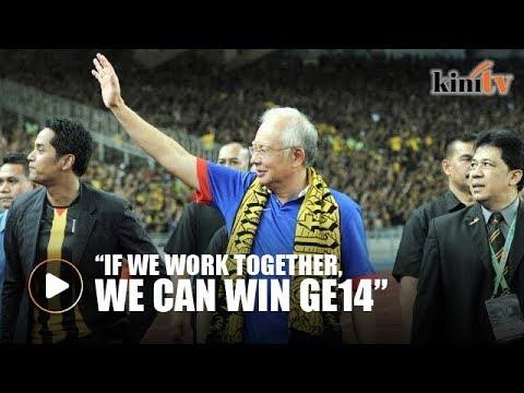 Najib wants football-like teamwork for GE14