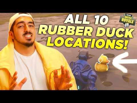 WHERE TO FIND ALL 10 RUBBER DUCKIES in Fortnite Battle Royale! (Season 4 Battle Pass Challenge)