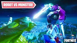 FORTNITE MONSTER VS ROBOT FULL FIGHT! THE FINAL SHOWDOWN! (Fortnite Monster vs Robot Battle)