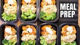 How To Meal Prep - Ep. 1 - CHICKEN (7 Meals/$3.50 Each)(This is a basic, and DELICIOUS, meal prep. Meal prepping saves you time, money, and definitely helps you stay on top of your fitness and health goals., 2016-04-17T17:52:33.000Z)