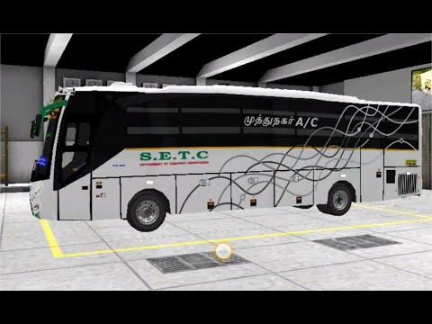 ✴️Thoothukudi Pondicherry New SETC AC Coach Bus - Tamilnadu TCN Depot  Drive[PCR GAMEPLAY]Links⤵️