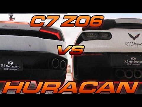 C7 Z06 Vs Lamborghini Huracan