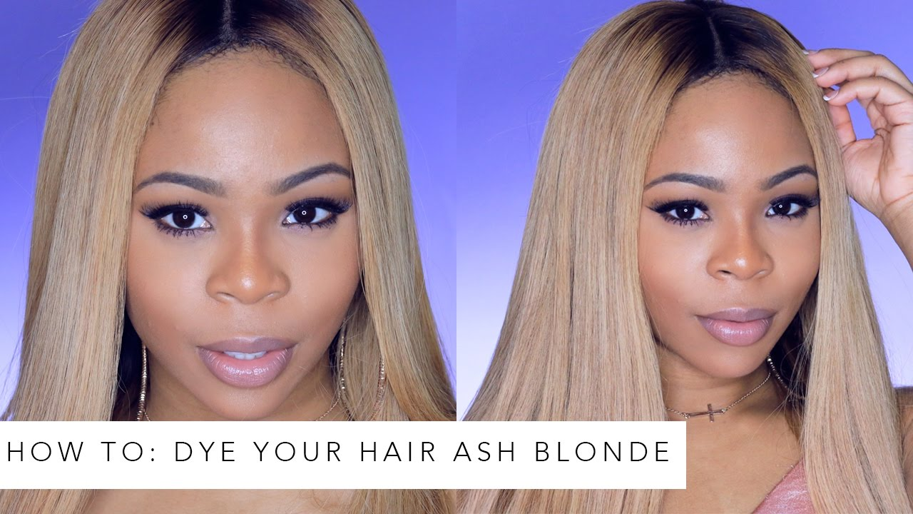 How To Dye Your Hair Ash Blonde Ft Iwishhair Youtube