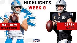 Matthew Stafford & Derek Carr Epic Duel | NFL 2019 Highlights