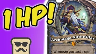 I SURVIVED WITH ONLY 1 HP TO OTK! | LEYLINE MAGE | HEARTHSTONE | DISGUISED TOAST