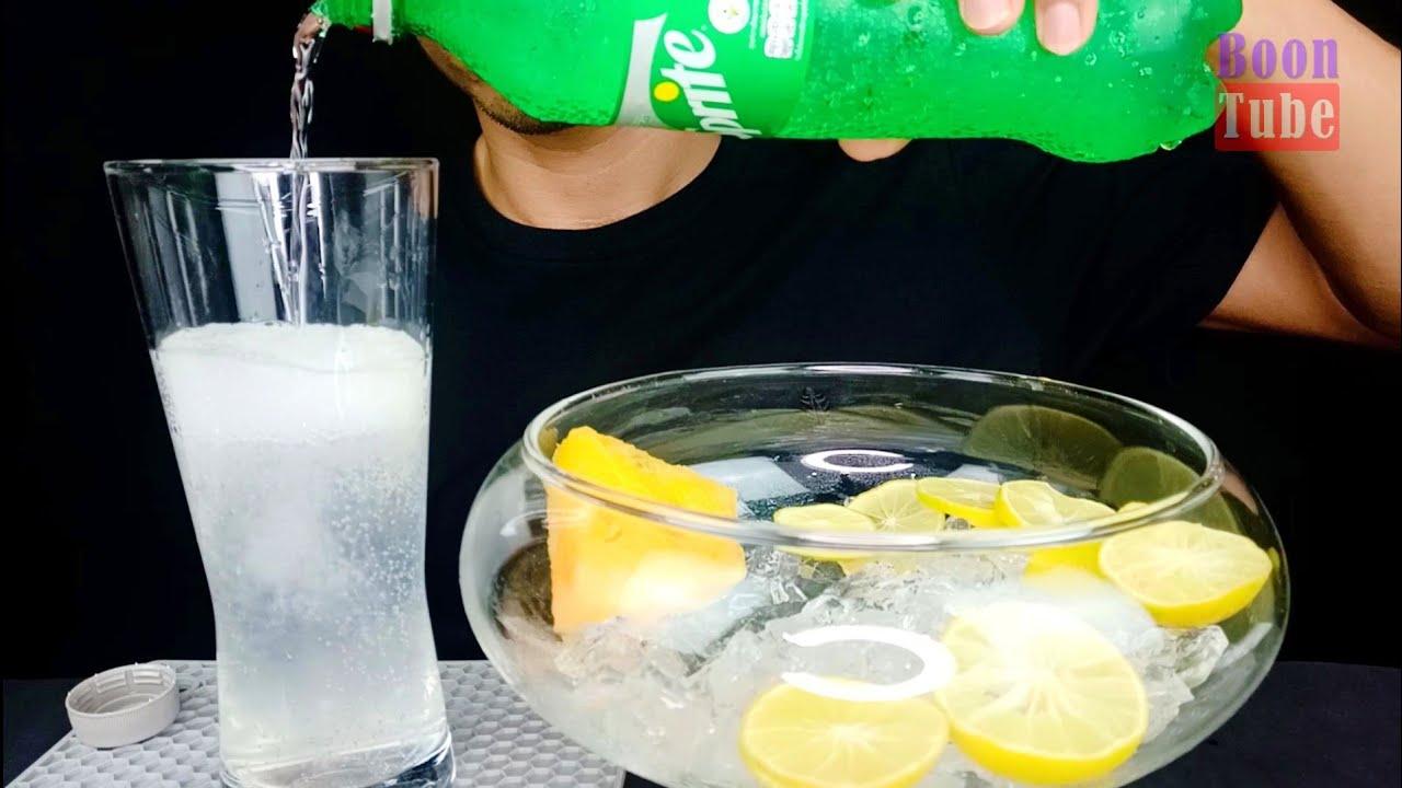 ASMR Drinking Sprite~Lemon~Yellow Watermelon | EP.119 I BoonTube