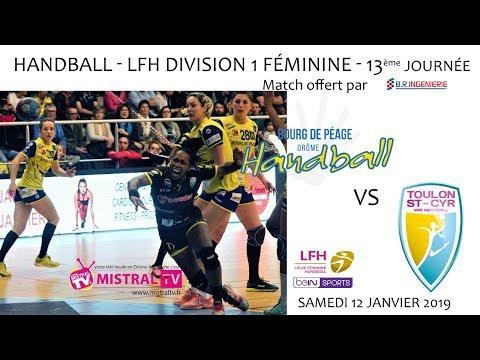 Handball Championnat LFH D1F   13ème journée   BDP vs TSCV