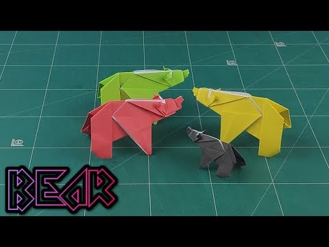 How to Make An Easy Paper Animals - Origami Bear Instructions Tutorials | DIY Craft 3D Animal
