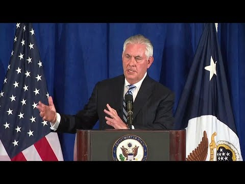 Secretary Tillerson Holds A Press Availability In New York City