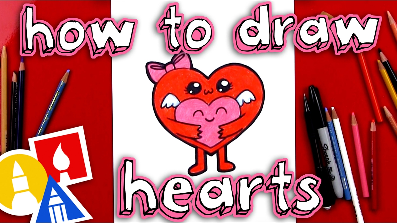 How To Draw Hugging Hearts For Valentine S Day Youtube