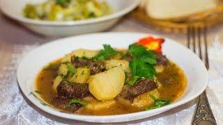 Соус с мясом и картошкой