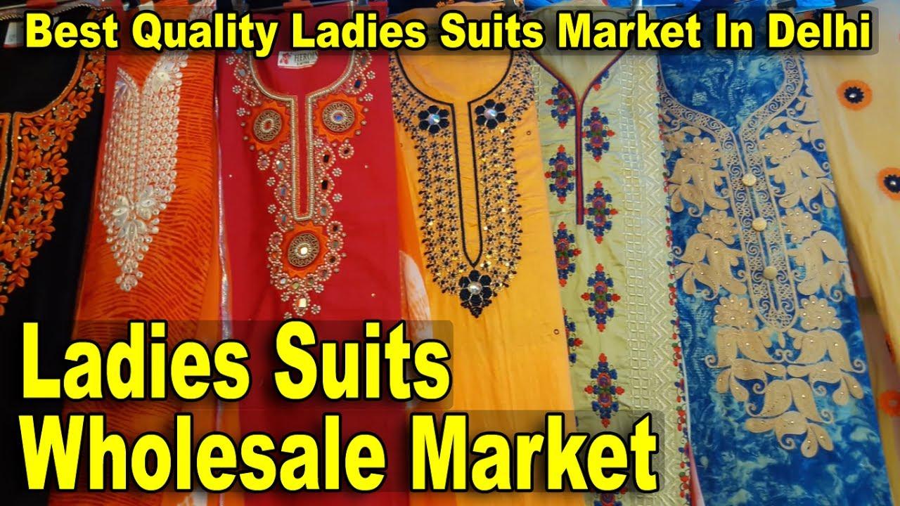 Ladies Suits Wholesale Market | Best Quality Suits Market In Delhi | Kucha  Natwa Market | Go Girls