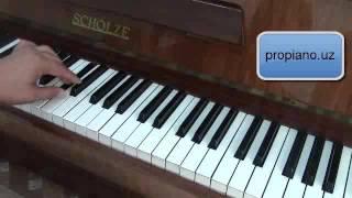 обучающие видео уроки по фортепиано Gis moll