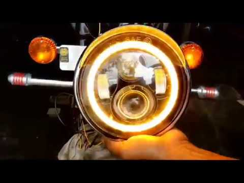 Royal Enfield Bullet With DRL Angle Eye Projector