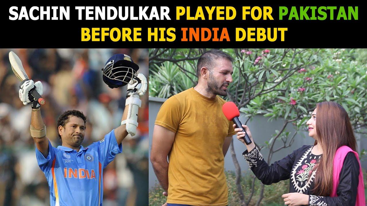 Sachin Tendulkar Played For PAKISTAN Against INDIA   Pakistani Public Reaction   Sana Amjad