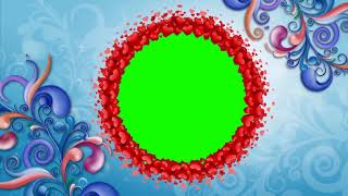 GREEN-SCREEN-BLUMEN DESING CIRCLE ANIMATION HINTERGRUND | DMX-HD-BG 396
