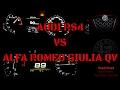 Alfa Romeo Giulia QV (MT) VS Audi RS4 (AT) 0-200 km/h - NEW Head2Head! SERIES