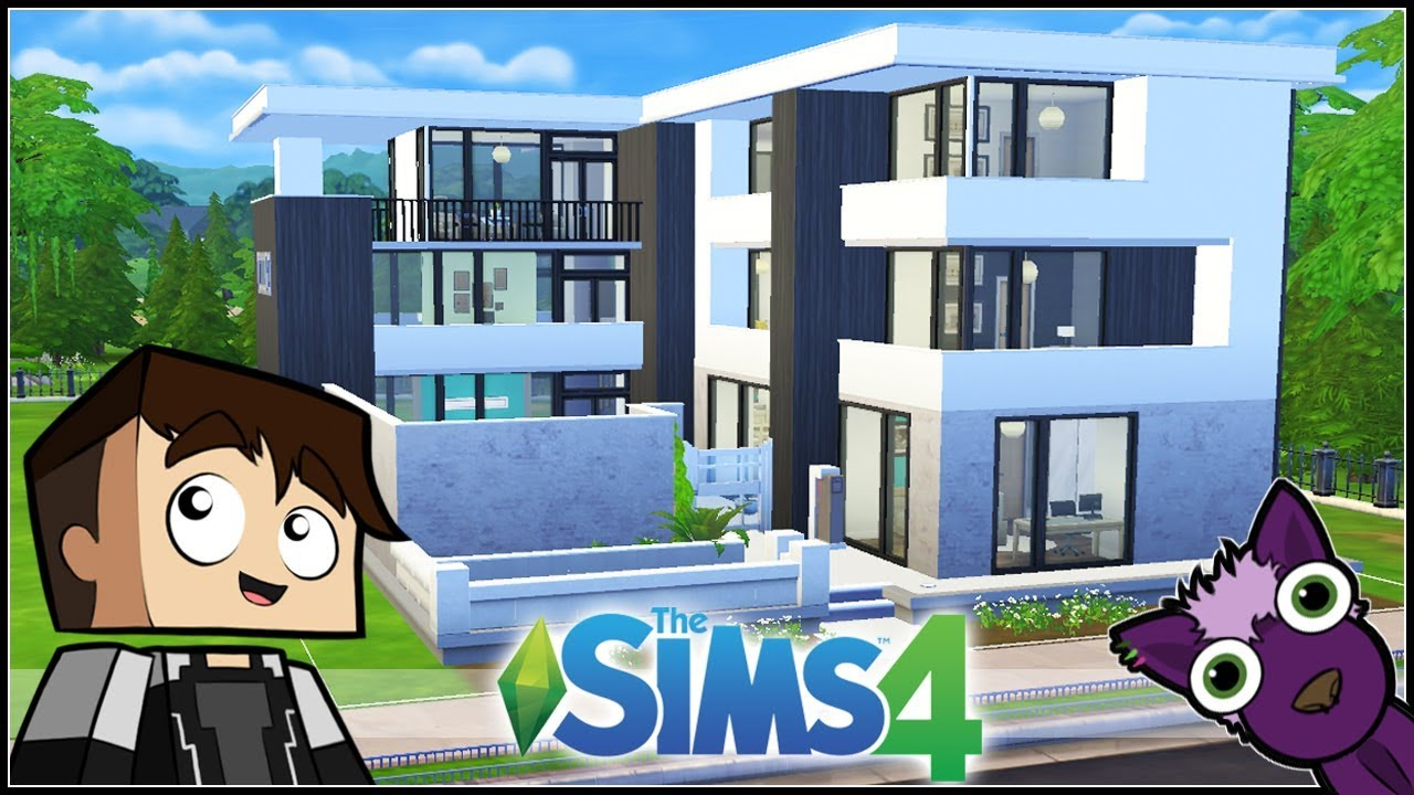 Los sims 4 speed build mis construcciones casa moderna con gimnasio y piscina youtube - Casa con gimnasio ...