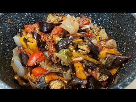 Баклажаны с овощами, гриль по корейски!!!