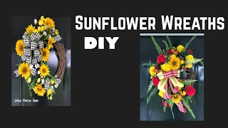 How To Make a Grapevine Wreath with Sunflowers - Grapevine Sunflower Wreath for Summer