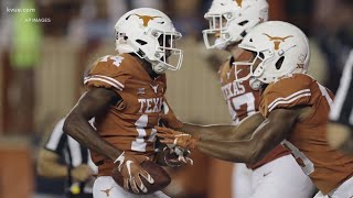 Longhorns' receiver Josh Moore returns in emphatic fashion | KVUE