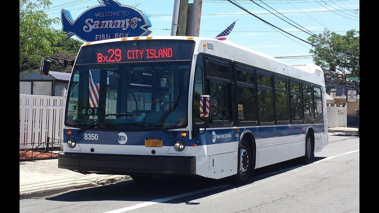 MaBSTOA Bus: On Board Nova Bus LFS [#8350] Bx29 Bus from Bay Plaza to City  Island