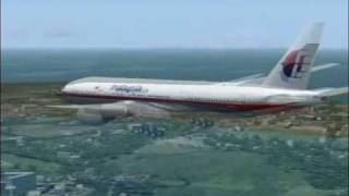 FS2004 MALAYSIA AIRLINES - KUCHING TO MIRI