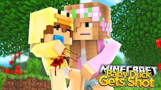 Minecraft - Little Kelly Adventures : BABY DUCK GETS SHOT!