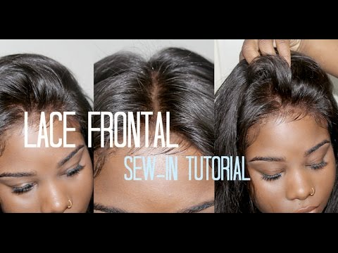 How To Sew In Your Lace Frontal No Hair Out Youtube