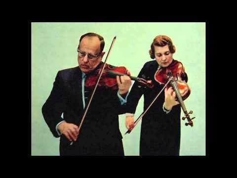 Joseph and Lillian Fuchs play the 1st & 2nd Movements of Mozart's 2nd Duo (1of 2)