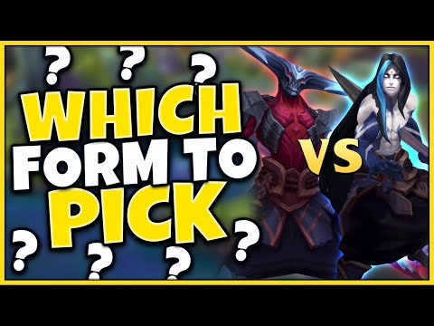 #1 KAYN WORLD LEARN HOW TO CHOSE RHAAST OR BLUE KAYN (INFORMATIVE GAMEPLAY) - League of Legends
