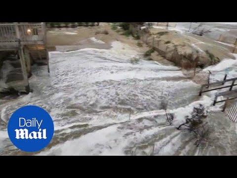 Hurricane Florence storm surge breeches North Carolina shore