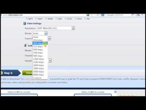 Easy free Video Converter (MP4, AVI, 3GP, WMV, MP3, etc)