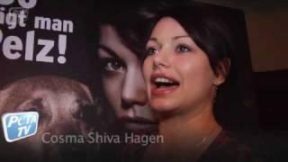 Cosma Shiva Hagen So Trägt Man Pelz Die Enthüllung Am 12 Dezember 2009