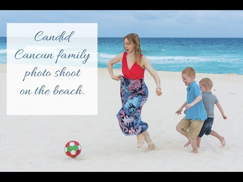 Cancun Family Photographer. Candid Style Family Photoshoot On The Beach In Cancun.